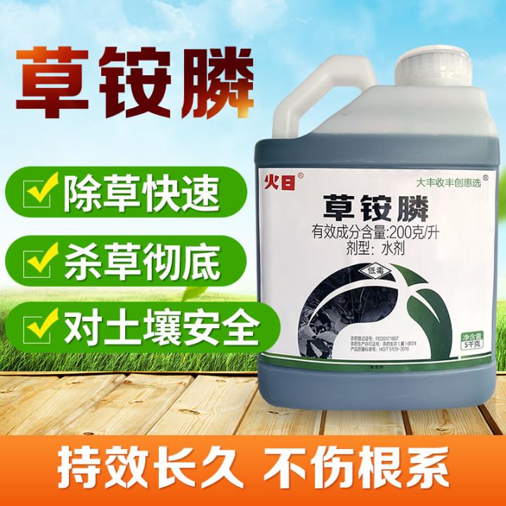 【丰创惠选】火日 200克/升草铵膦水剂 5kg 5kg*1桶