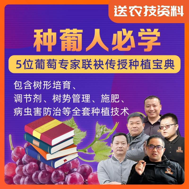 【天天学农-种葡人必学】5位葡萄专家联袂传授种植宝典 1*1套*1套