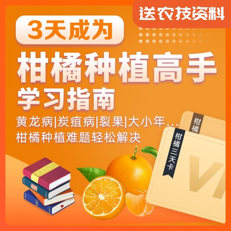 【天天学农】3天成为柑橘种植高手学习指南 1*1套*1套