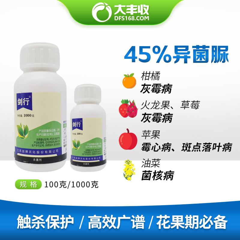 江苏剑牌剑行45%异菌脲悬浮剂1000g 1000g*1瓶