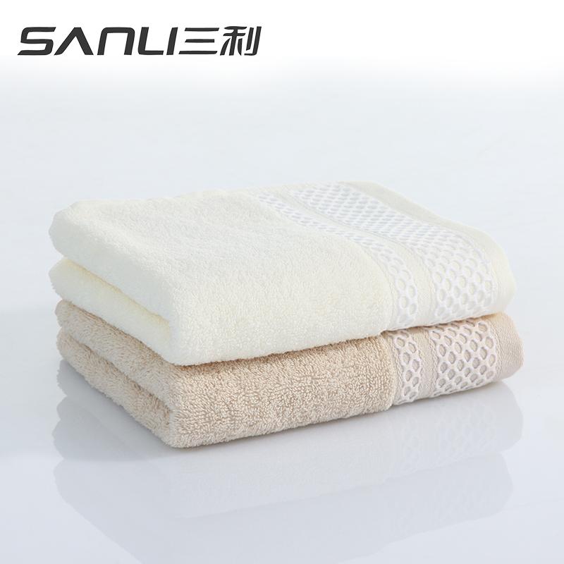 三利布拉格恋人面2条礼盒装毛巾G8031 白色 组合装  1Pcs