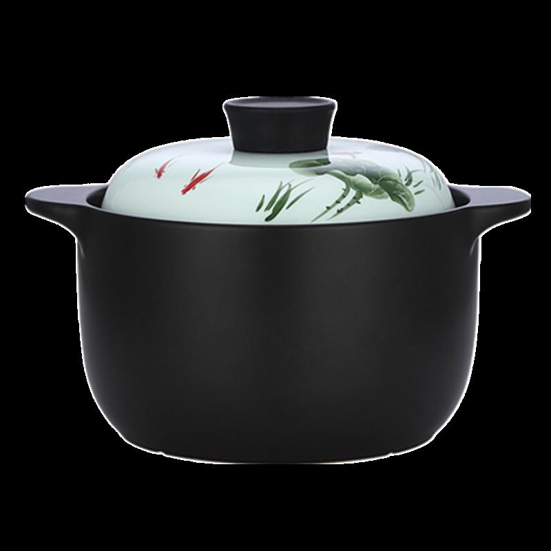 诺顿荷塘月色养生陶瓷汤煲3THTYS3000 图片色 1Pcs