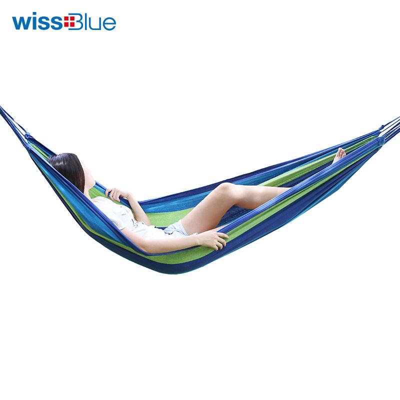维仕蓝 休闲户外加宽加厚吊床 WA8053-B 混色 1Pcs