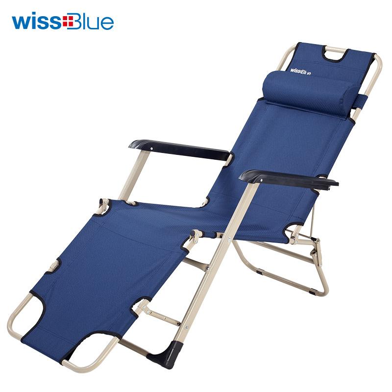 维仕蓝 午睡单人三用折叠床 WD5031-B 蓝色 1Pcs