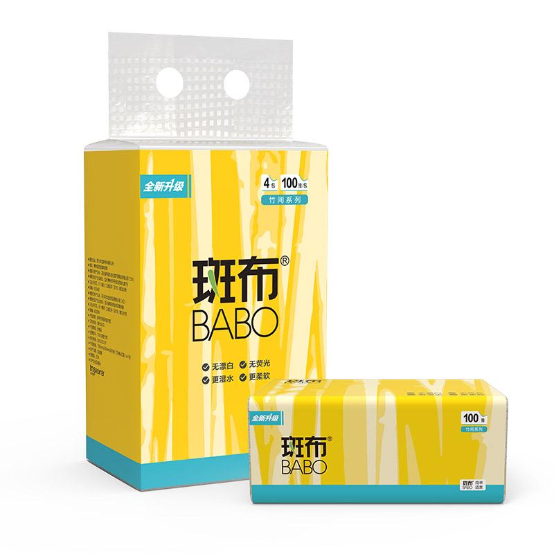 斑布BASE Ⅱ系列抽纸100抽4包装     1Pcs