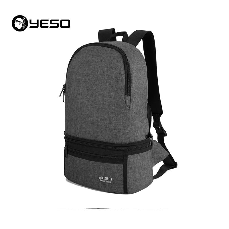 户外大师 YESO 折叠双肩包 1-06  碳灰色  1件
