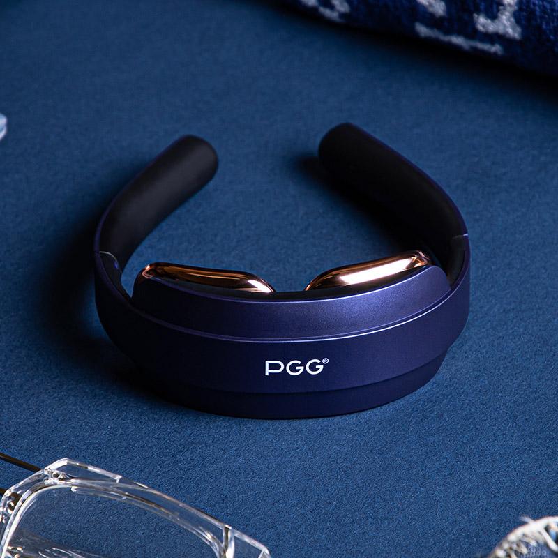 PGG折叠颈椎按摩器肩颈按摩仪小米护颈仪智能颈部深蓝色 1件