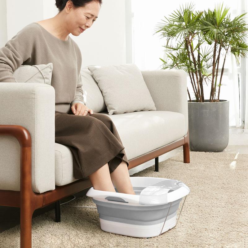 乐范乐伽系列家用小型足浴盆电动按摩折叠泡脚桶足疗神器恒温洗脚 1件