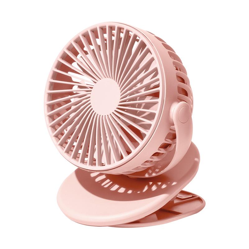 SOLOVES素乐 F3 夹子风扇大风力三挡调节粉色 1件