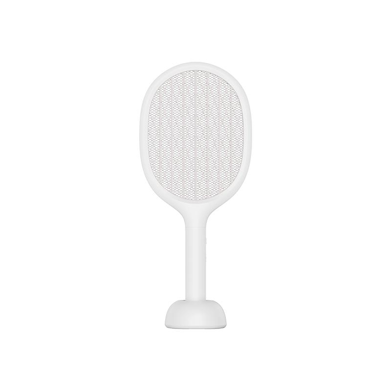 素乐电蚊拍充电式家用强力多功能LED灯电苍蝇拍诱灭蚊子灯白色 1件