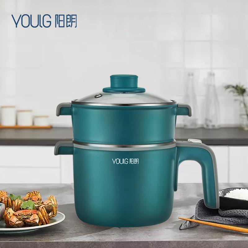 阳朗电煮锅迷你电热小火锅速食面机电蒸锅电炖煮面锅 1件