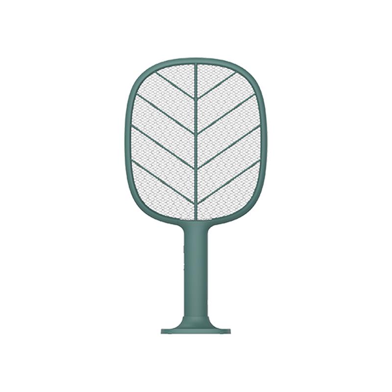 素乐质造电蚊拍充电式家用强力电池打蚊子苍蝇拍锂电超强灭蚊绿色 1件
