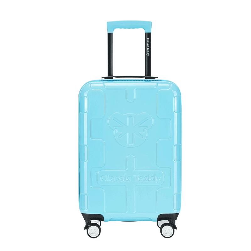 精典泰迪时尚拉杆箱旅行箱行李箱20寸 TD-6036蓝色 1件