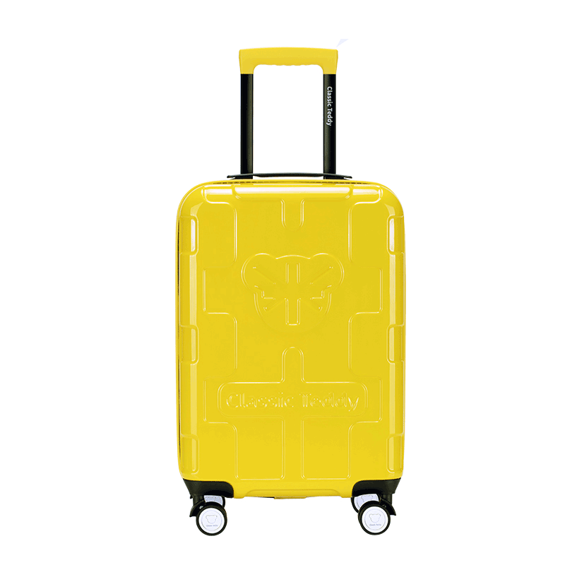 精典泰迪时尚拉杆箱旅行箱行李箱20寸 TD-6036黄色 1件
