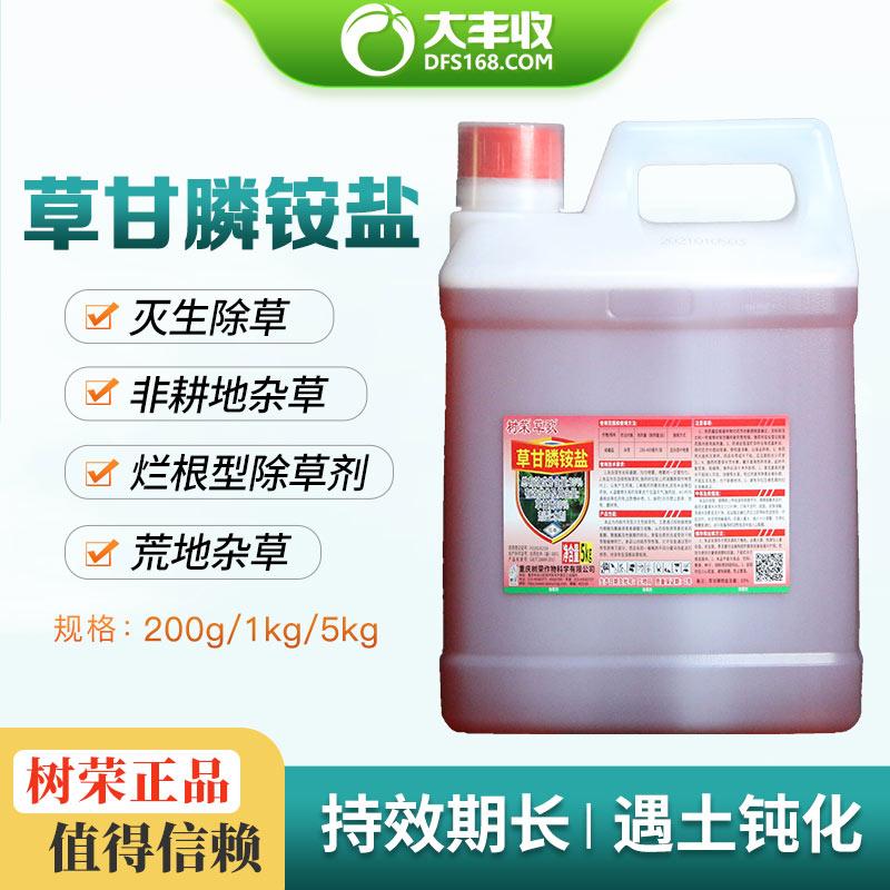 树荣草歌33%草甘膦铵盐(30%草甘膦)水剂5kg 5kg*1桶