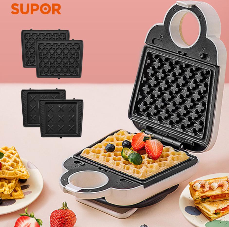 苏泊尔三明治早餐机SJ1512C01家用多功能小型华夫饼机烤 1Pcs