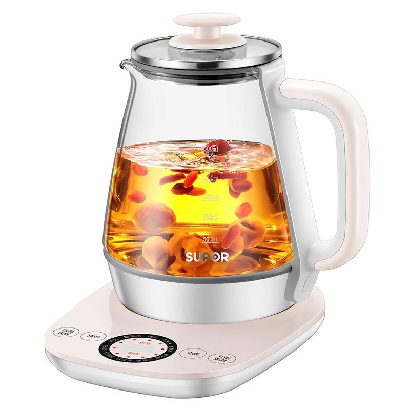 苏泊尔 养生壶煮花茶玻璃电水壶隔水炖盅SW-15Y12 1Pcs