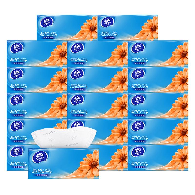 维达抽纸家用纸巾3层110抽软抽18包 1Pcs