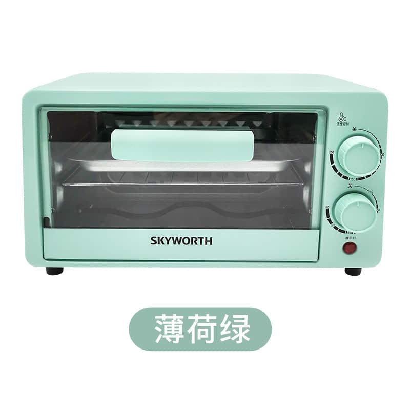 创维 电烤箱迷你家用多功能烤箱12L 绿色K205A 1Pcs