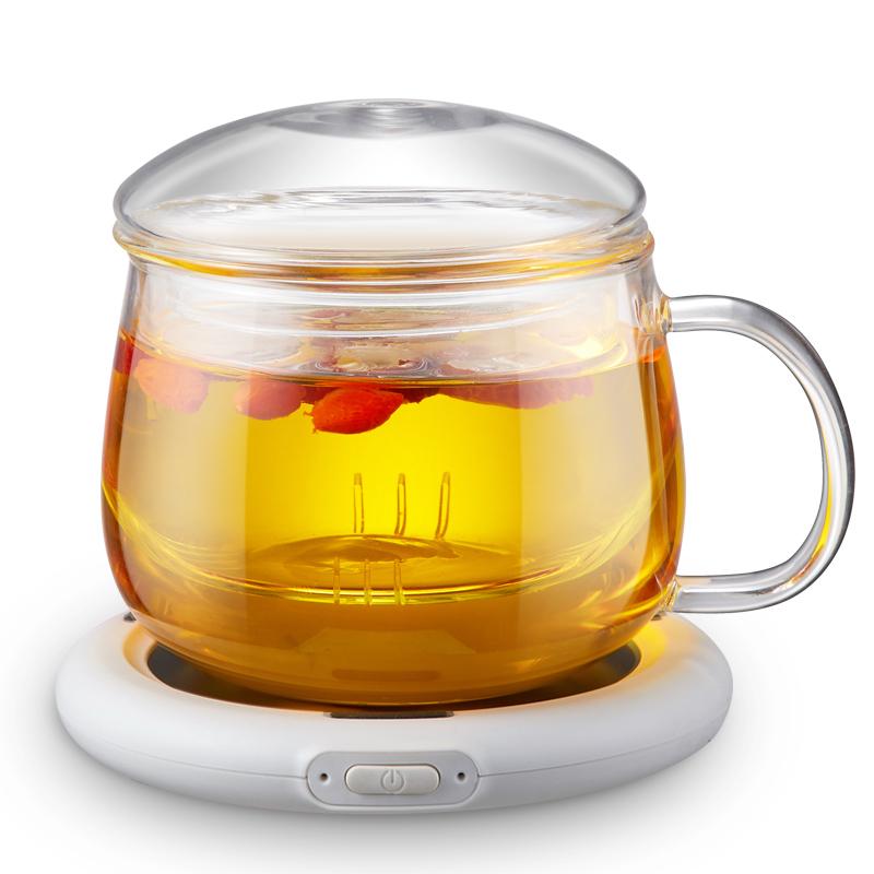 优益 恒温加热杯垫 55度杯垫恒温保温自动加热器Y-NNB2 Y-NNB2 白色+杯*1Pcs