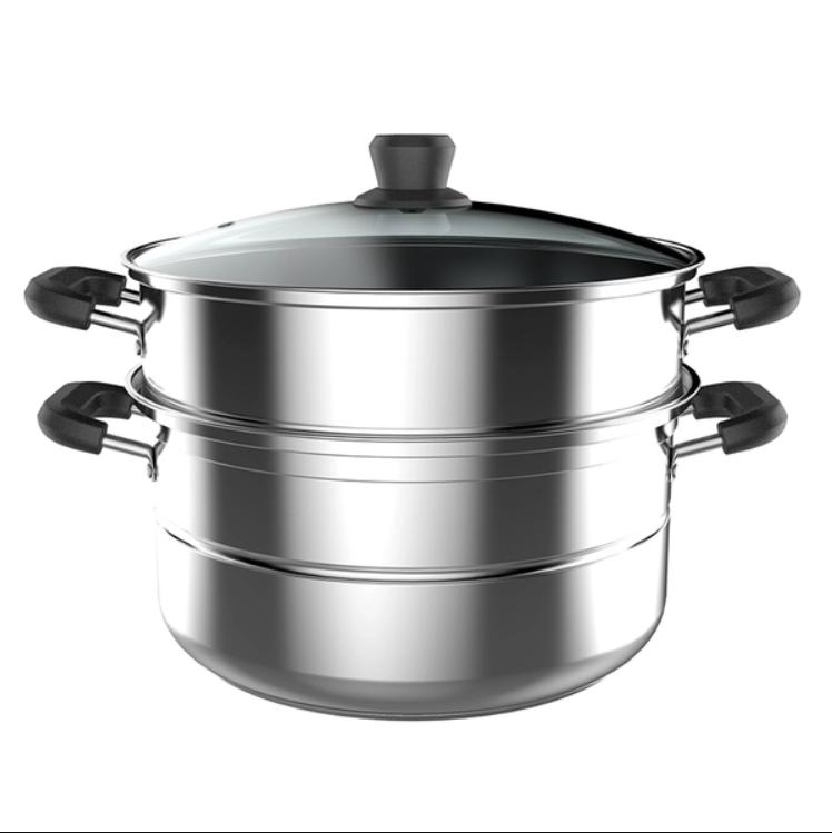 美的不锈钢蒸锅ZG26Z01浅灰色 1Pcs