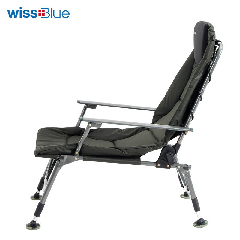 wissblue 休闲折叠椅钓鱼折叠椅军绿色 折叠椅WD5024  军绿色*1Pcs