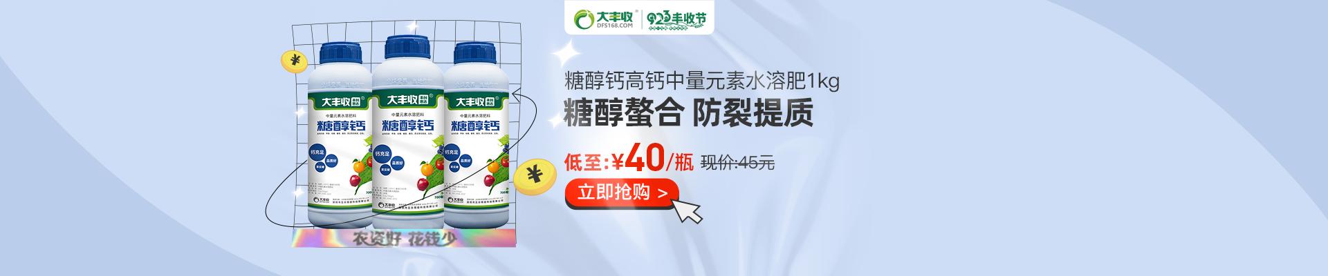 【9月】众筹-大丰收 糖醇钙 高钙中量元素水溶肥 水剂1kg*12瓶