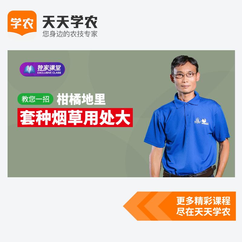 柑橘木虱防治新技术(网上课程) 1套