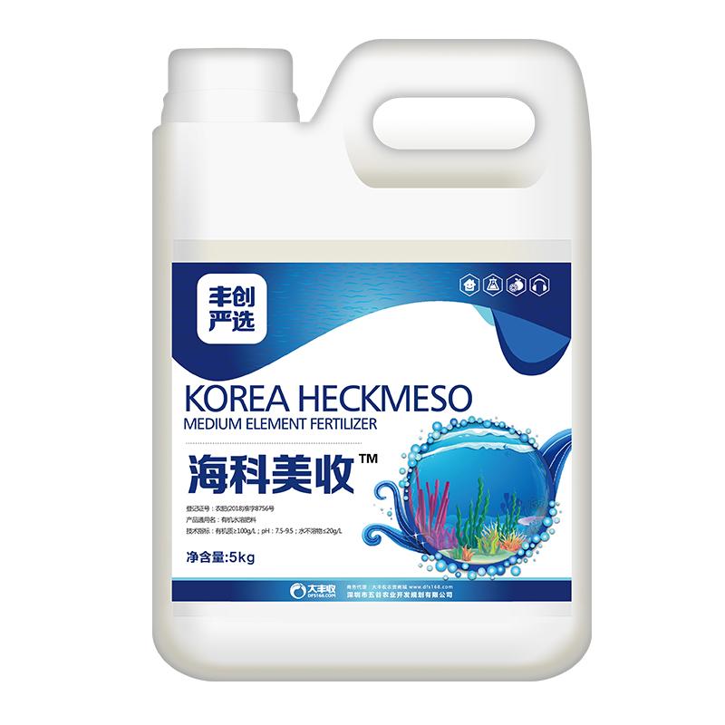 【丰创严选】海科美收韩国海藻有机水溶肥5kg/桶 5kg*1桶