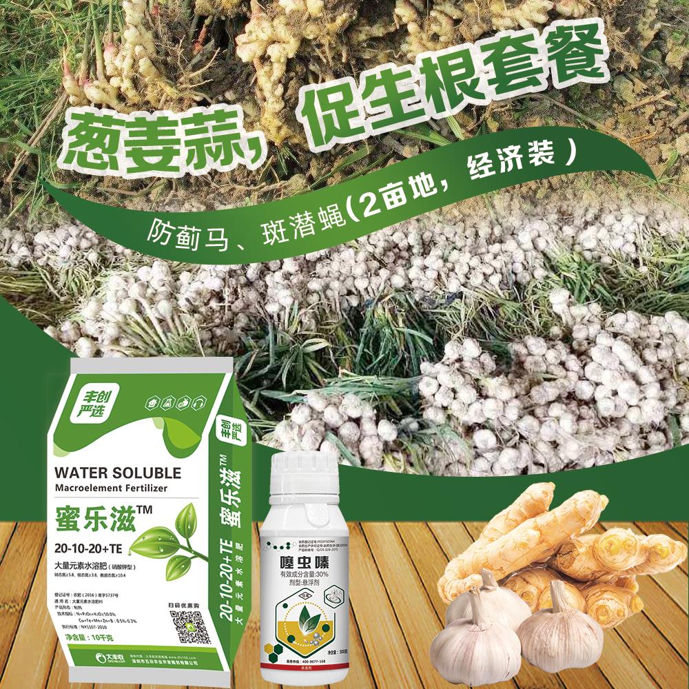 葱姜蒜防蓟马|斑潜蝇|促生根套餐(2亩地) 1套