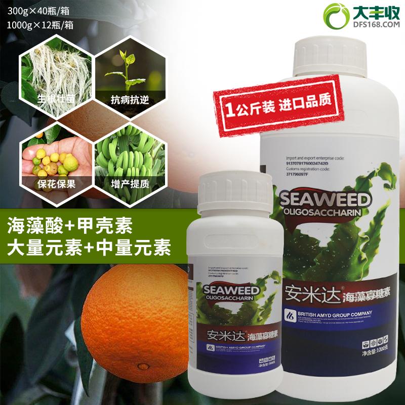 安米达高浓缩海藻寡糖素水溶肥 1000g*1瓶